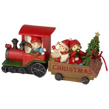 Winter Collage Accessoires Train Noel avec enfants 29x8x13,5cm