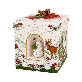 Christmas Toy's pacchetto regalo grande rettangolare albero di Natale, 16 x 16 x 21,5 cm