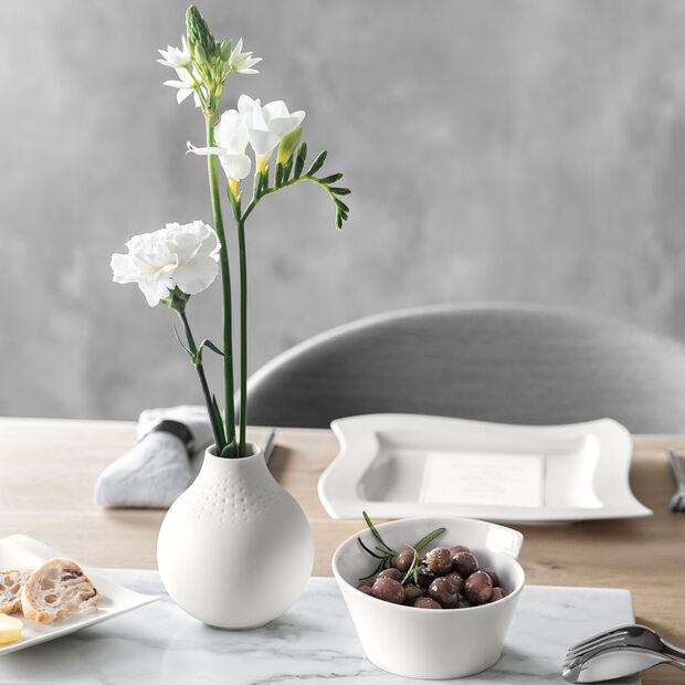Manufacture Collier blanc Vase Perle klein 11x11x12cm, , large