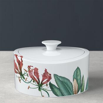 Avarua Gifts boîte en porcelaine, 800ml, blanche/multicolore