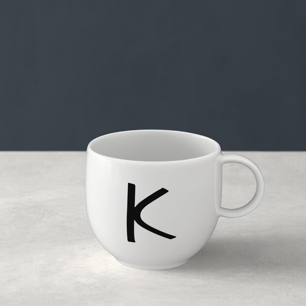 Letters Becher K 13x10x8cm, , large