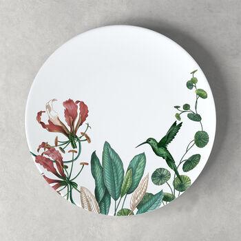 Avarua assiette plate, 27cm, blanche/multicolore