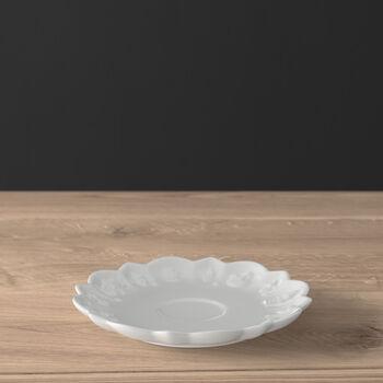 Toy's Delight Royal Classic piattino per tazza espresso/moka, bianco, 14 cm