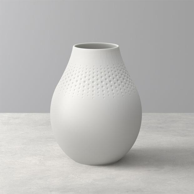Manufacture Collier blanc Vase Perle hoch 16x16x20cm, , large