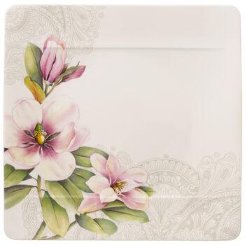 Quinsai Garden piatto piano Magnolia Motivo D