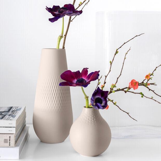 Manufacture Collier Vase, 11,5x26cm, Carré, Beige, , large