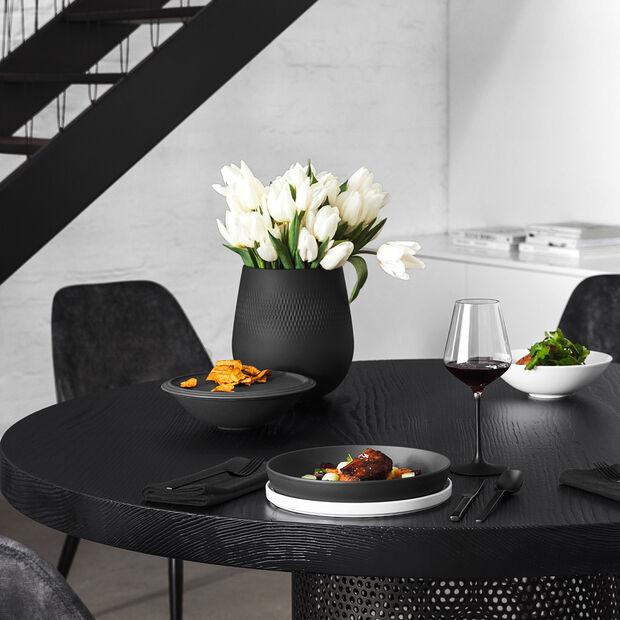 Manufacture Collier noir Vase Carré grand 20,5x20,5x22,5cm, , large