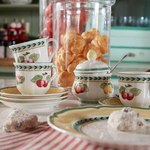 French Garden Fleurence Soucoupe tasse petit-déjeuner/bouillon 17cm, , large