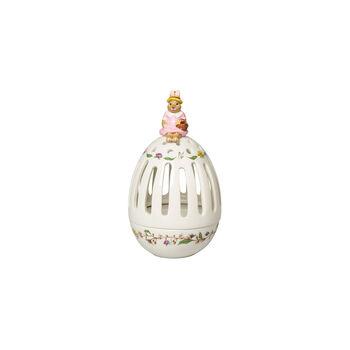 Bunny Tales Teelichthalter-Ei Anna, 16 cm, bunt