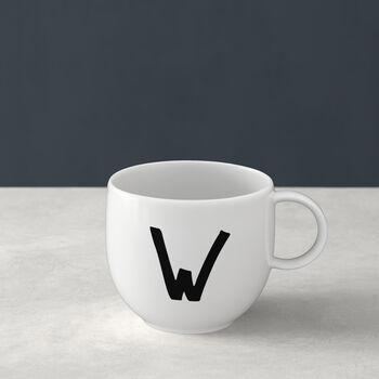 Mug Letters W 13x10x8cm