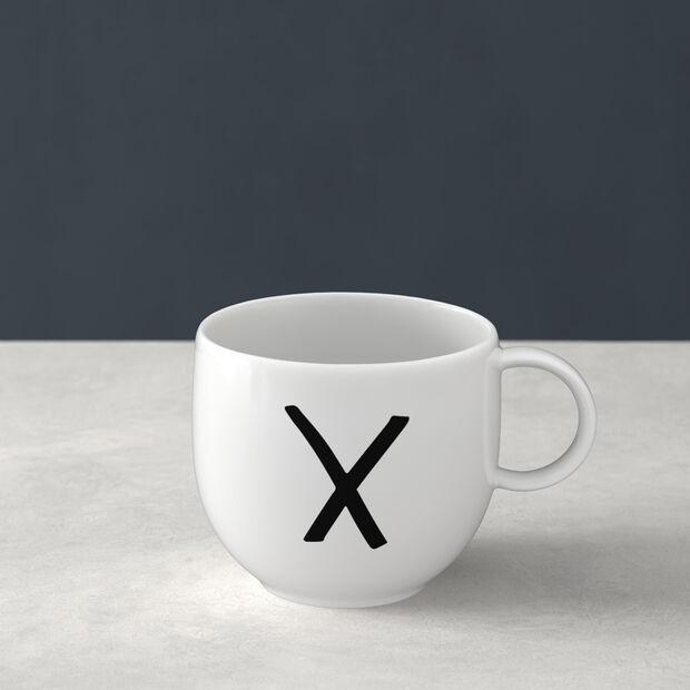 Letters Becher X 13x10x8cm, , large