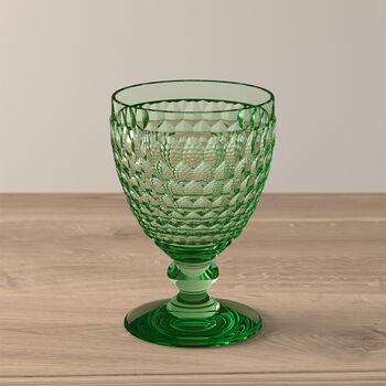 Boston Coloured Rotweinglas Green