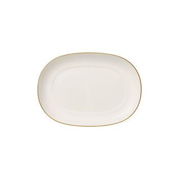 Anmut Gold Beilagenschale, Länge 20 cm, Weiß/Gold