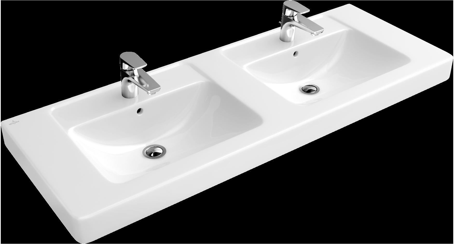 Innovativ Architectura Schrank-Doppelwaschtisch Eckig 613113 - Villeroy & Boch AL98